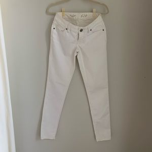 The Limited white skinny jeans